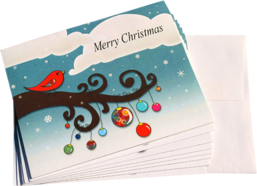 Holiday Birds Personalized Note Cards