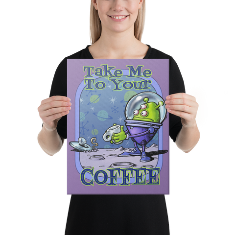 Green Alien Canvas Print