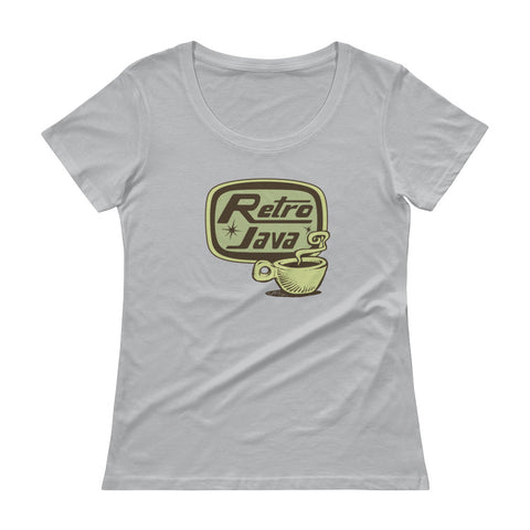 Retro Java Ladies' Scoopneck T-Shirt
