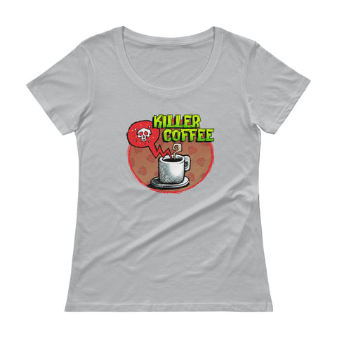 Killer Coffee Ladies' Scoopneck T-Shirt