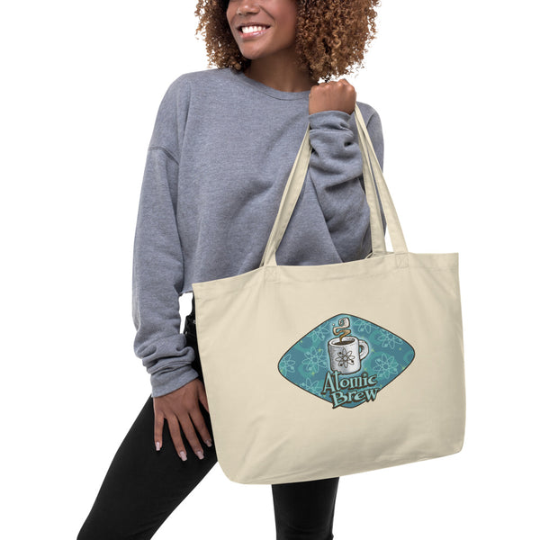 Atomic Brew Large organic tote bag