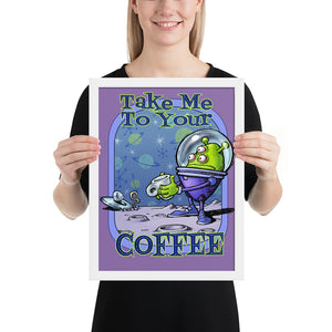 Green Alien Framed poster