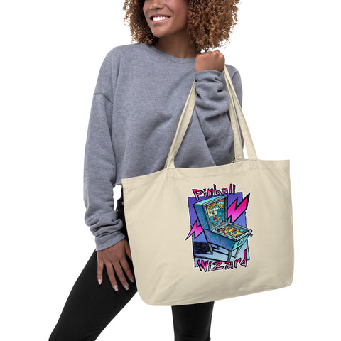 Pinball Wizard Large organic tote bag