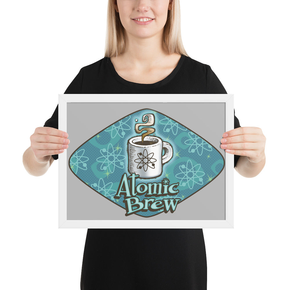 Atomic Brew Framed poster
