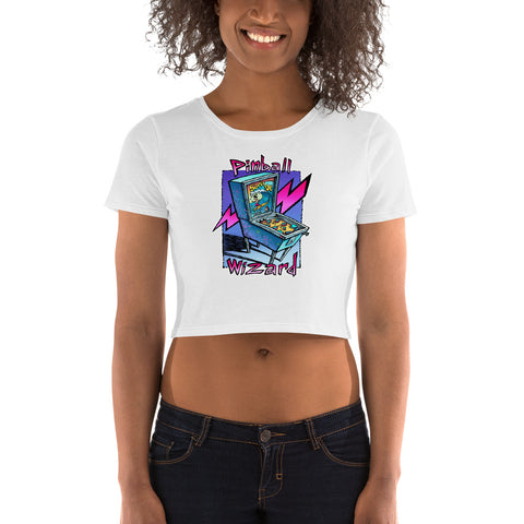 Pinball Wizard Women's Crop Tee