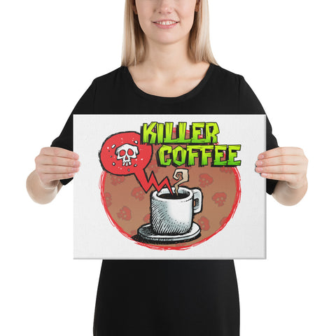 Killer Coffee Canvas Print