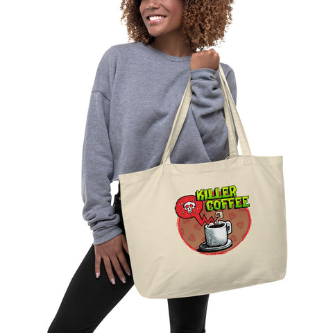 Killer Coffee Large organic tote bag
