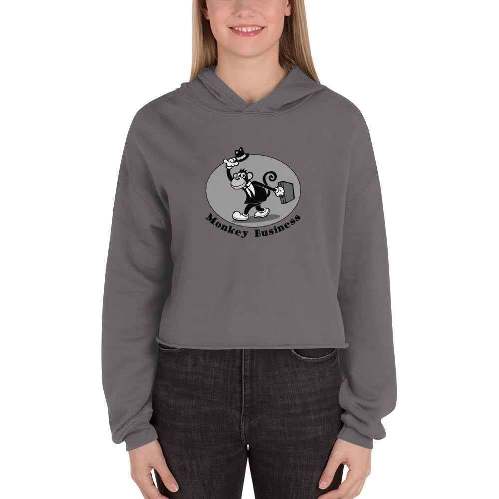 Monkey Business Crop Hoodie