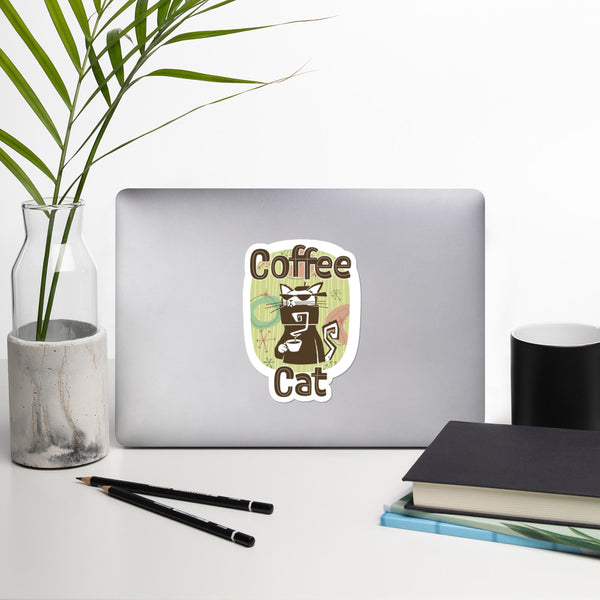 Coffee Cat Bubble-free Stickers