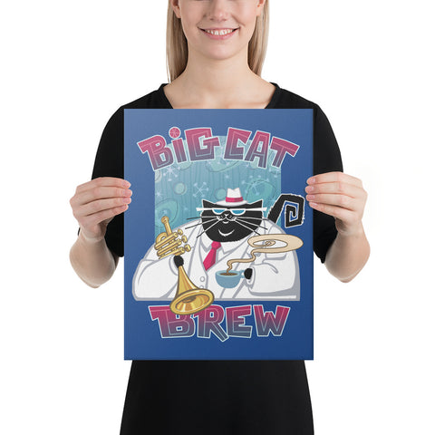 Big Cat Brew Canvas Print