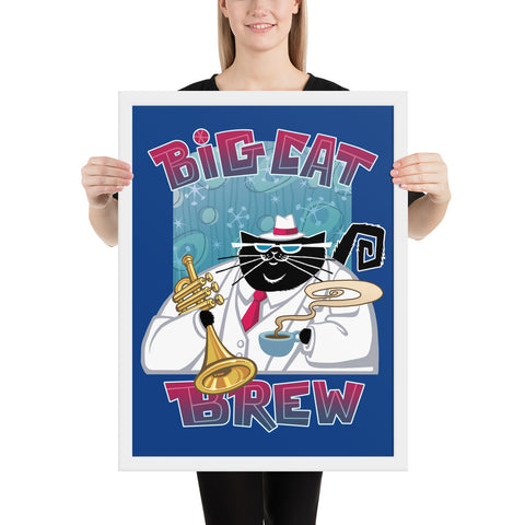 Big Cat Brew Framed poster