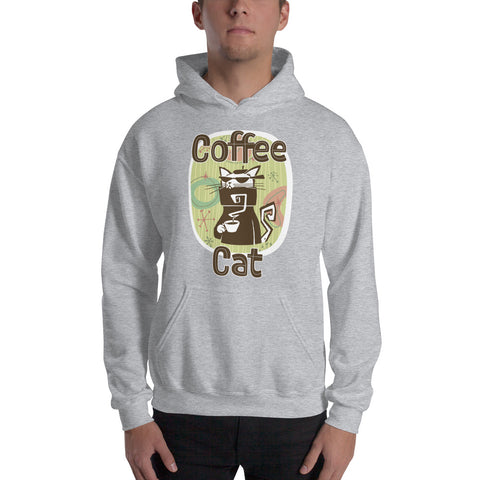 Coffee Cat Hooded Sweatshirt