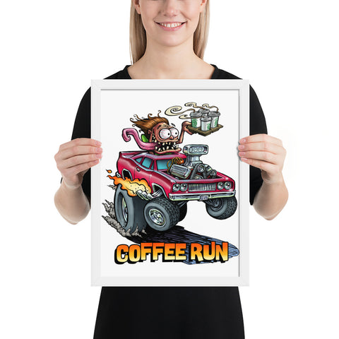 Coffee Run Framed poster