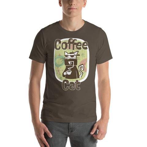 Coffee Cat Short-Sleeve Unisex T-Shirt