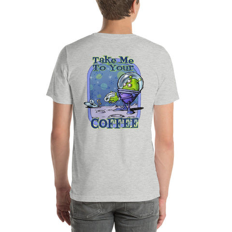 Green Alien Short-Sleeve Unisex T-Shirt