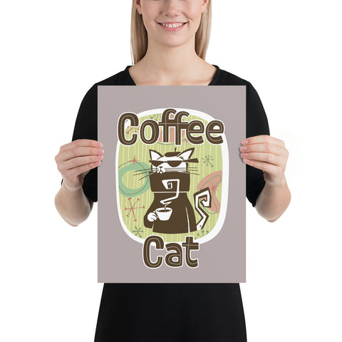 Coffee Cat Photo paper poster