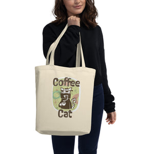 Coffee Cat Eco Tote Bag