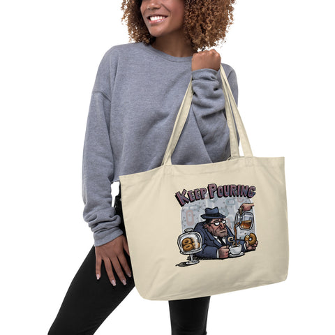 Keep Pouring Large organic tote bag