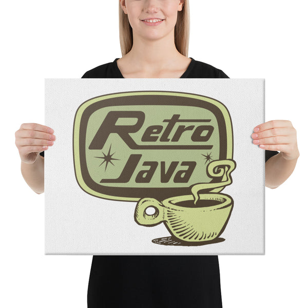 Retro Java Canvas Print