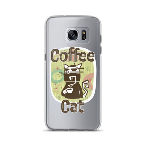 Coffee Cat Samsung Case