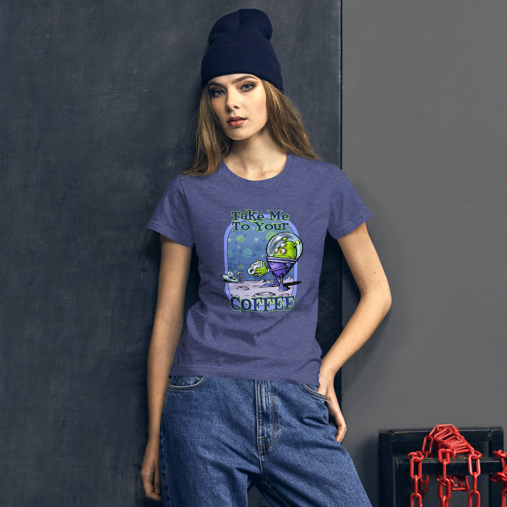 Green Alien Women's short sleeve t-shirt