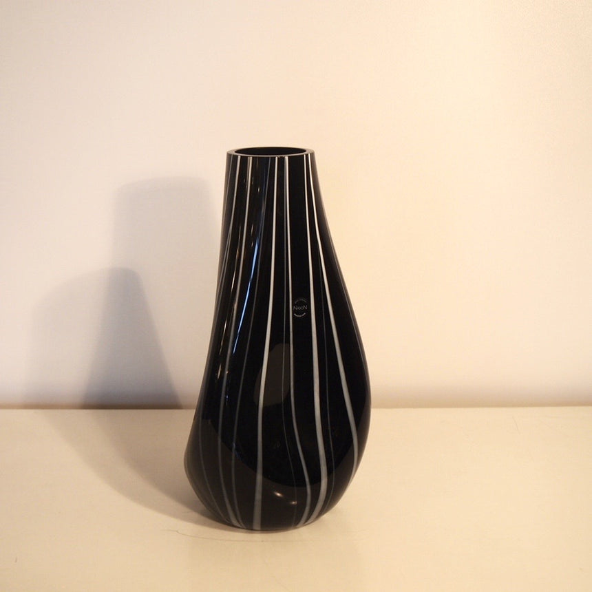 "Glass collection vase in Murano from 1980's signed Nason.  -  Vase ""Glass collection"" en verre de Murano des années 80 signé Nason."