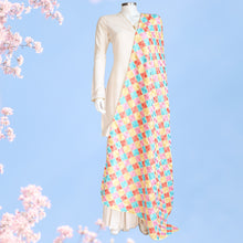 Load image into Gallery viewer, Phulkari Dupatta by Mystic Loom // Pastel Phulkari for online shopping