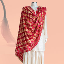 Load image into Gallery viewer, Phulkari Dupatta by Mystic Loom - Splash of vibrant Phulkari // Bridal Dupatta online