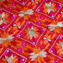 Load image into Gallery viewer, Phulkari Embroidery by Mystic Loom // Wedding Dupatta for online shopping