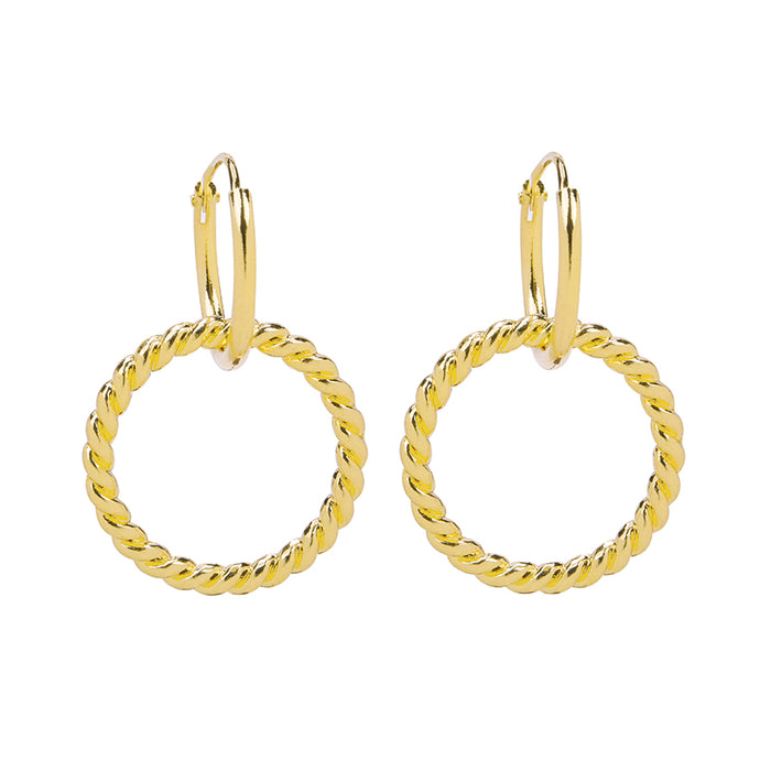 OORBELLEN CURLY HOOPS GOUD