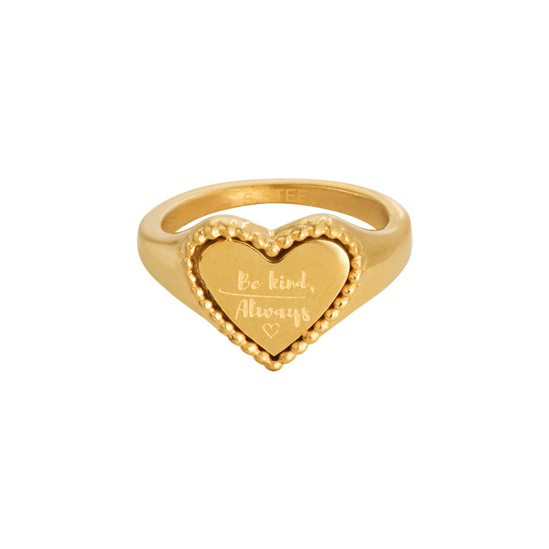 RING BE KIND GOLD