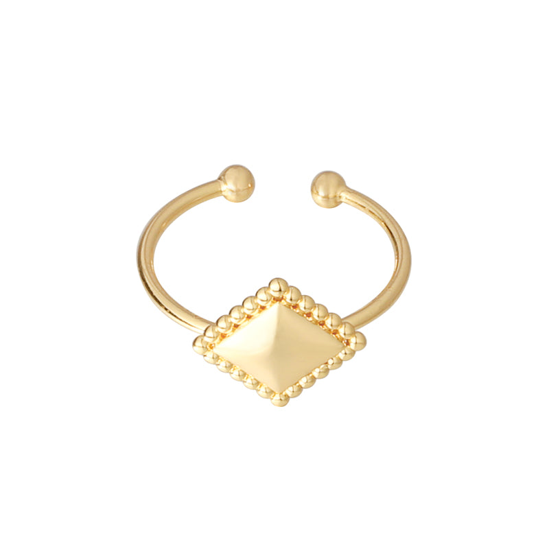 RING DIAMOND MEDAILLON GOLD