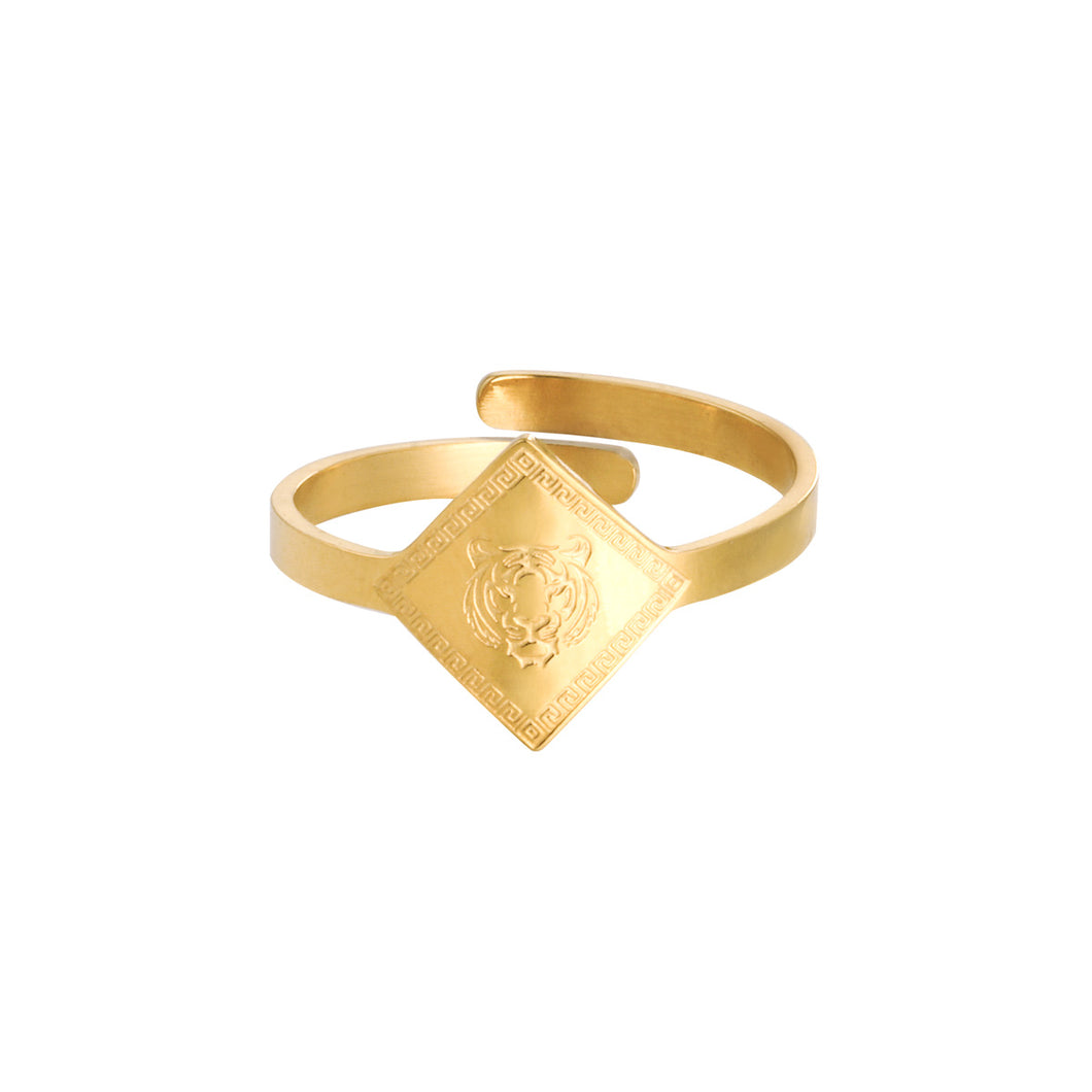 RING FIERCE TIGER GOLD