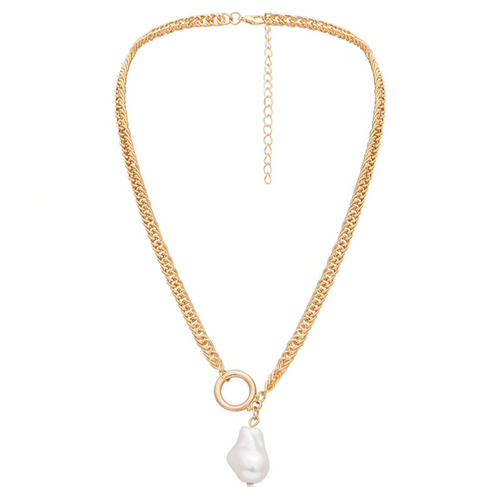 KETTING PEARL DROP GOLD