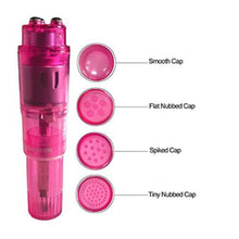 Load image into Gallery viewer, Clit Bullet Vibrator Mini Vibrating Stimulator G-Spot Massager Interchangeable Heads