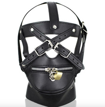 Load image into Gallery viewer, Bondage Lockable Gimp Harness Mask - Unisex - UK Seller - DISCREET DELIVERY
