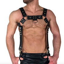 Load image into Gallery viewer, Black Leather Bondage Male Costume Men Body Chest Harness Strap Belts