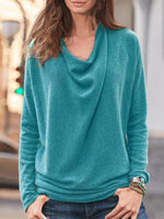 Solid Color Long Sleeve Top