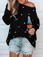 Little Star Print Multicolor Multi Size Long Sleeve Top