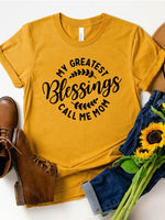 My Greatest Blessings T-Shirt O-Neck Tee