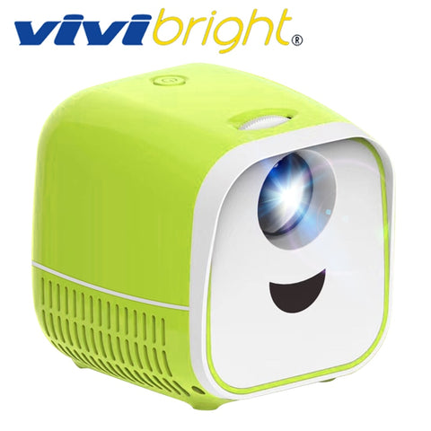 VIVIBright Original Mini Portable Projector L1,1000Lumens, Support Full HD1080P,HDMI USB Mini beamer, Home Media Player,