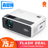 AUN MINI Projector D60S, 1280x720P, Android 6.0 WIFI Bluetooth, LED Proyector for 1080P Home Cinema, Video Beamer, Optional D60