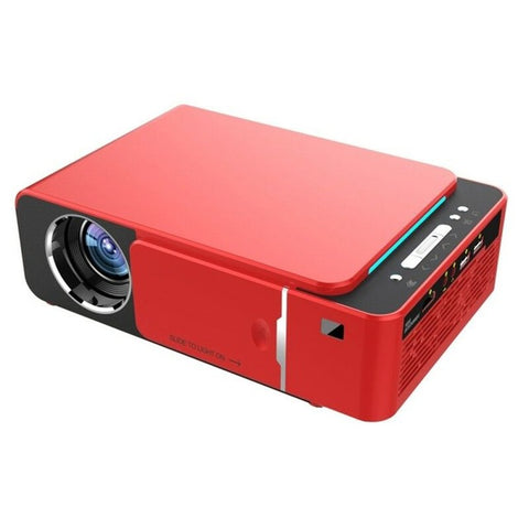 T6 Projector Android 9.0 WIFI Optional 3500lumen 1080p HD Portable LED Projector HDMI Support 4K