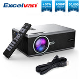 Excelvan FLOUREON BL88 2000Lumens Projector Portable LED Cinema Video Digital HD Home Theater 4K Beamer Home HDMI Proyector