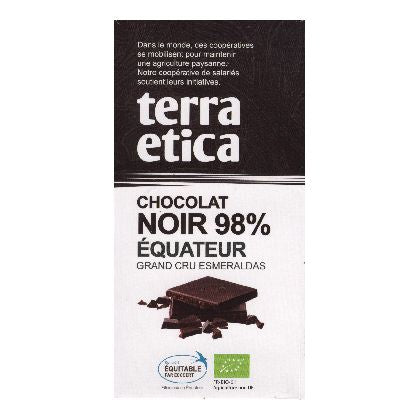 TABLETTE NOIR 98% EQUAT.100G