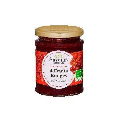 CONF 4 FRUITS ROUGES BIO 320G