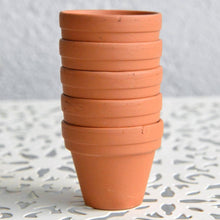 Load image into Gallery viewer, Mini Terracotta Pots - 3cm - Set of 5