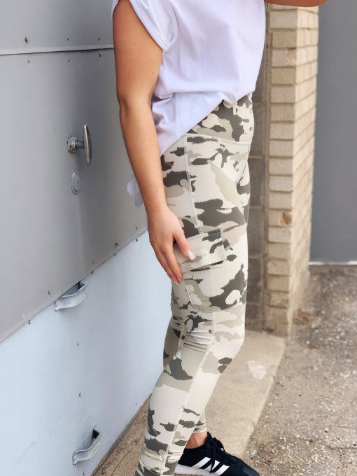High-Waist Camo Cargo Legging