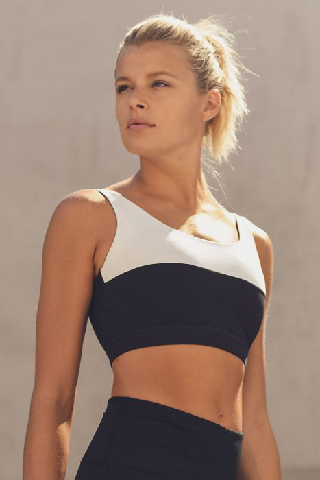 Half Colorblock Sports Bra