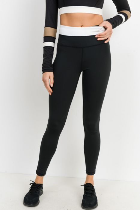 Half Color-block High-waist Leggings